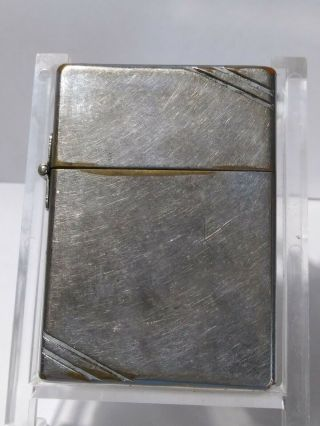 Vintage Zippo Diagonal Outside Hinge 1934 - 35,  3 Barrel,  Pat Pending