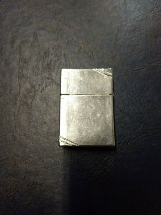 Vintage Zippo Lighter Patent 2032695 (1937 - 1937) With Slashes,  Square Corners