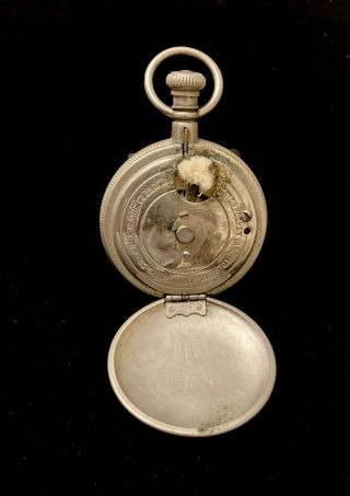 Antique 1891 Folmer & Schwing Silver Plated Pocket Watch Lighter Lamp