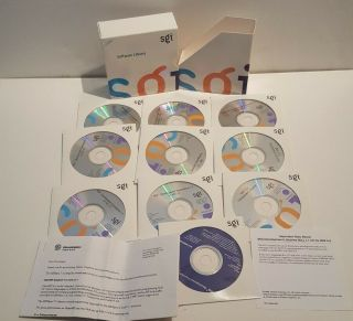 Silicon Graphics Sgi Software Library Set For Irix Software.  10 Cds