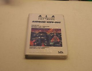 Very Rare Android Wipe - Out By Ala Software For Apple Ii,  Iie,  Iic,  Iigs -