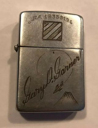 Rare Vintage Korean War Steel Case Military Zippo Lighter Risqué - Piece