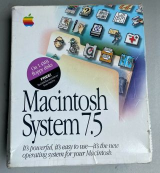 """Apple Macintosh Mac Computers System 7.  5 Operating System Software 3.  5 """" Disks"""