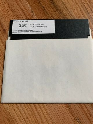 Commodore 128: Cp/m System Disk And User Utilities