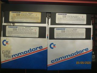 Commodore 128 Cp/m System Disks - Cp/m Plus V3.  0 And More