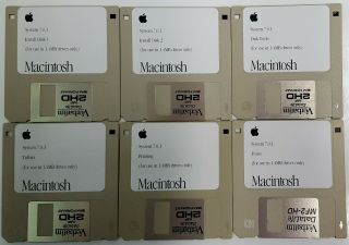 Apple Macintosh System 7.  0.  1 Complete Set Of 1.  4m Install Disks For Classic Macs