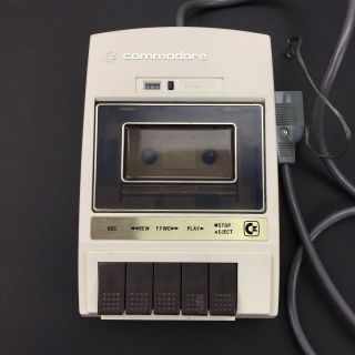Commodore 64 C2n Data Cassette Tape Player For C64 Computer