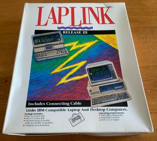 Laplink Lap Link Release Iii Includes Connection Cable Ibm Pc Computers.