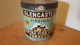 Very Rare Glencastle Extra Fine Tobacco Tin
