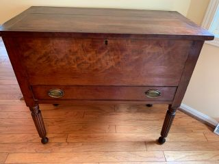 Antique Sugar Chest 19th Century Federal Southern Tennessee Kentucky Lift Top