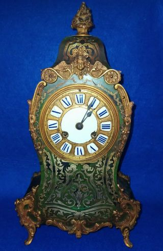 French Louis Xv Style Boulle Mantel Clock