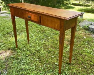 Vintage Curt Brown Solid Tiger Maple Kitchen Dining Room Server Sideboard Table