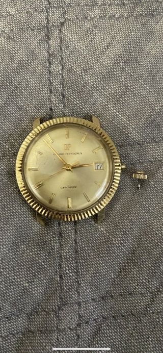 Vintage Girard Perregaux Gyromatic 14k Gold Watch With Date Repair