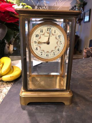"Best Antique Tiffany & Co.  Bronze 10.  5 "" High Clock"