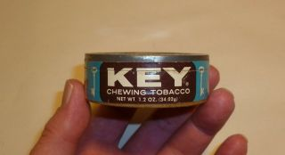 Vintage Key Chewing Tobacco Snuff Tin Paper Can - Empty - Cardboard
