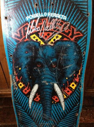 Vintage 1988 Powell Peralta Mike Vallely Skateboard Deck & Signed