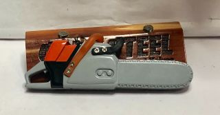 Collectible Novelty Mini Cigarette Lighter Shaped Like Steel Chainsaw