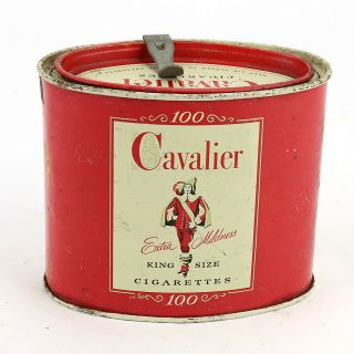 Vintage Cavalier Extra Mildness Cigarette Tobacco Tin