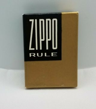 Vintage Empty Zippo Rule Box With Paperwork