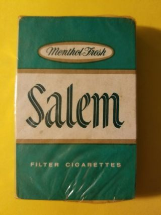 Vintage Playing Cards Deck - Salem Cigarettes Tobacco Company Advertising