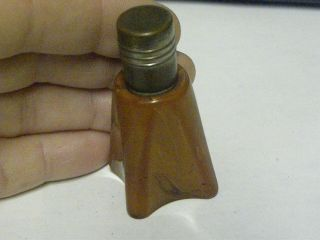"Vintage Small Caramel Color Table Lighter - 2 - 1/4 "" Tall - "" Strike - A - Lite """