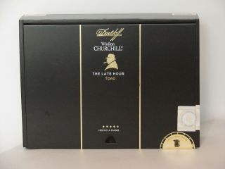 Davidoff Winston Churchill Empty Cigar Box - - The Late Hour 20 Toro