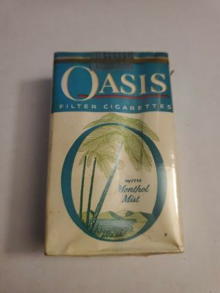 Vintage Cigarette Soft Pack Empty Display Only Menthol Mist Graphics Logo Oasis