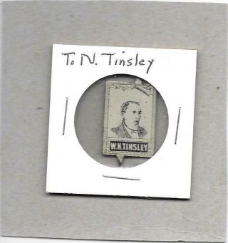 Tinsley Tobacco Tag - Vintage Litho Tag - Tabs Attached