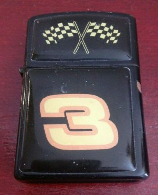 Rare Vintage Collectible 3 Dale Earnhardt Checkered Flags P.  I.  I Lighter