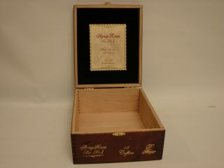 Aging Room Empty Cigar Box - - Small Batch Bin No.  1 D Major 6 X 54