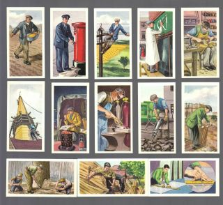 Cigarette/trade/cards.  Priory Tea.  Men At Work.  (1959).  (complete Set Of 25).