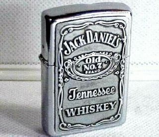 "Vtg 1996 Zippo Lighter ""jack Daniel's Old No.  7 Tennessee Whiskey"""