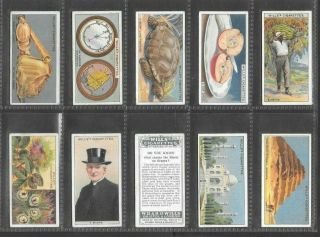 Wills 1924 Interesting (knowledge) Full 50 Card Set  Do You Know 2nd