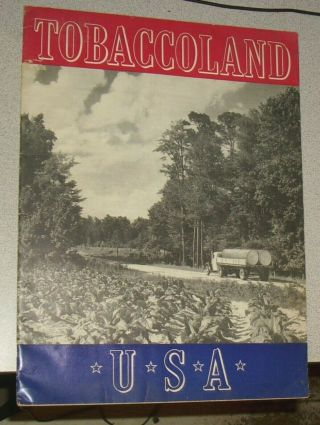Tobaccoland Durham North Carolina Vintage 1941 Chesterfield Cigarette Promo Book