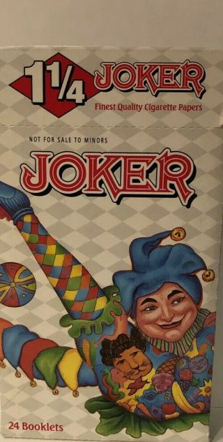(3) Packs Joker White Rolling Papers 1 1/4 1.  25 Joker Brand