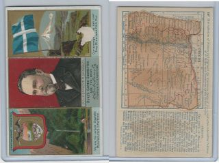 N133 Duke,  State Governors,  Coats Of Arms Tri - Fold,  1888,  Oregon,  Pennoyer