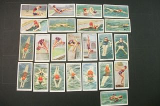 Cigarette Tobacco Cards Swimming Diving And Life Saving Ogdens/ardath