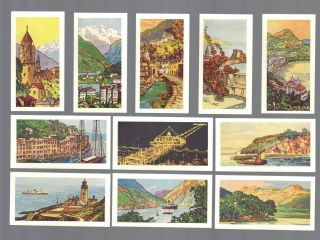 Cigarette/trade/cards.  B.  T Tea Ltd.  Holiday Resorts.  (full Set Of 25).  (1963).