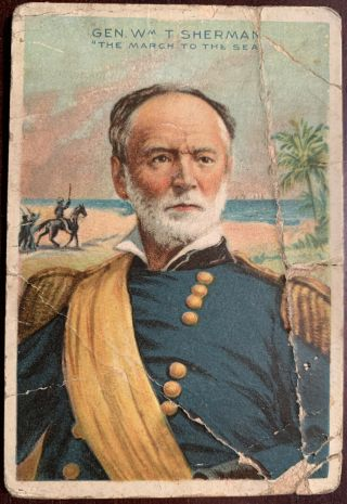 T68 American Tobacco Co.  Miners Extra Heroes Of History Gen.  William T.  Sherman