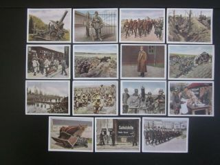 15 German Cigarette Cards Of World War 1,  Issued In 1937,  3/3