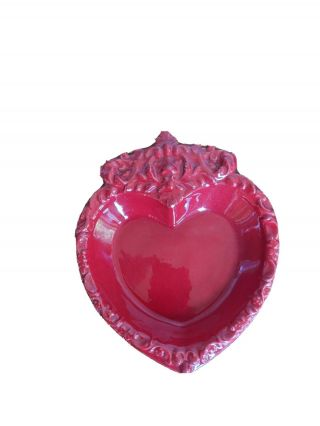 Red Heart Ceramic Ashtray