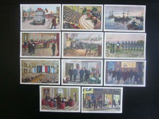 11 Large German Trade Cards Of The Aftermath Of Ww1 In Germany,  Issued In 1934