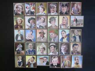 30 Color German Cigarette Cards Of German Film Stars,  Issued 1935