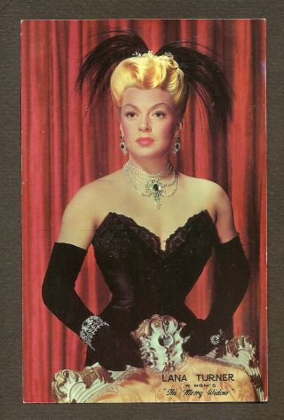 Lana Turner Card Size Postcard Fans Club Publicity For Merry Widow Mgm Photo