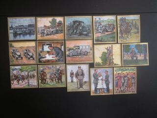 15 Color German Cigarette Cards Of German Army,  Issued 1933,  2/3