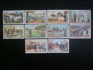 10 Large German Trade Cards Of The Napoleonic Wars (1806 - 15),  Issued In 1934