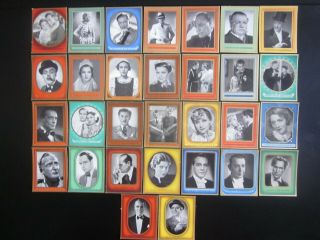 30 German Cigarette Cards Of German Film Stars Of The 1930s,  Issued In 1937,  1/2