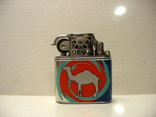 Vintage Camel Lighter 1997 Silver Tone With Colors Small 1 1/4 1 1/2 1/4