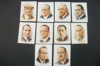 Cigarette Tobacco Cards Wills Famous British Authors 1937 10 Cards