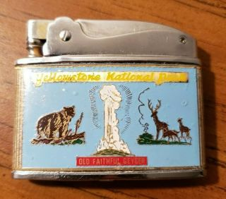 Vintage Yellowstone National Park Advertising Lighter Great Color